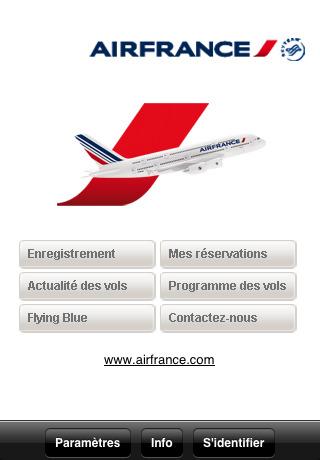 Homepage app Air France