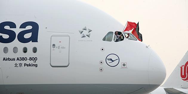 A380 Luffthansa à Pékin