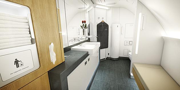 Salle de bain A380 Lufthansa